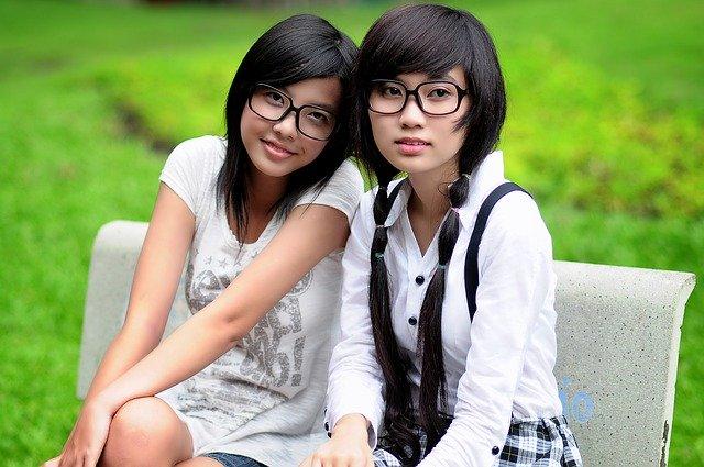 アジアの中学生