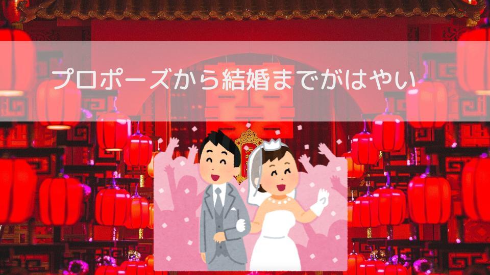 プロポーズから結婚までがはやいの画像
