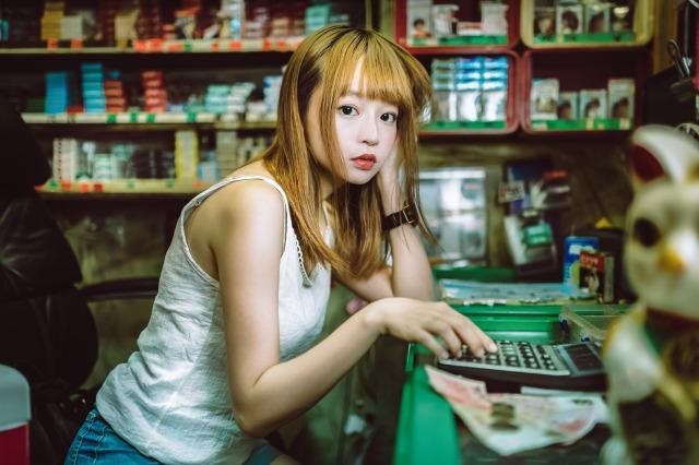 可愛い香港の女性の画像