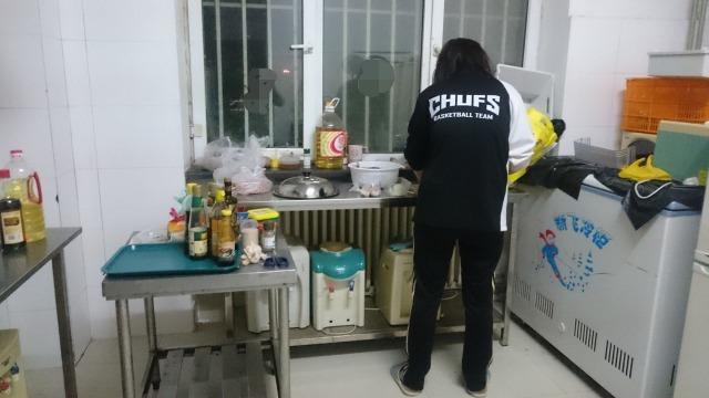 寮のキッチンの画像